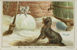 New Year's card from Spinner & Co, Tea Merchant